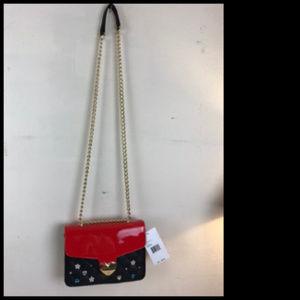 NWT Betsy Johnson Shoulder Bag w Goldtone Chain